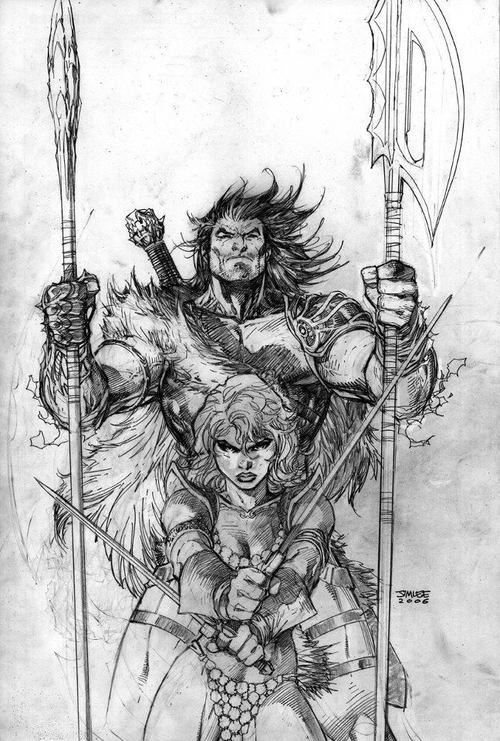 Conan & Red Sonja by Jim Lee