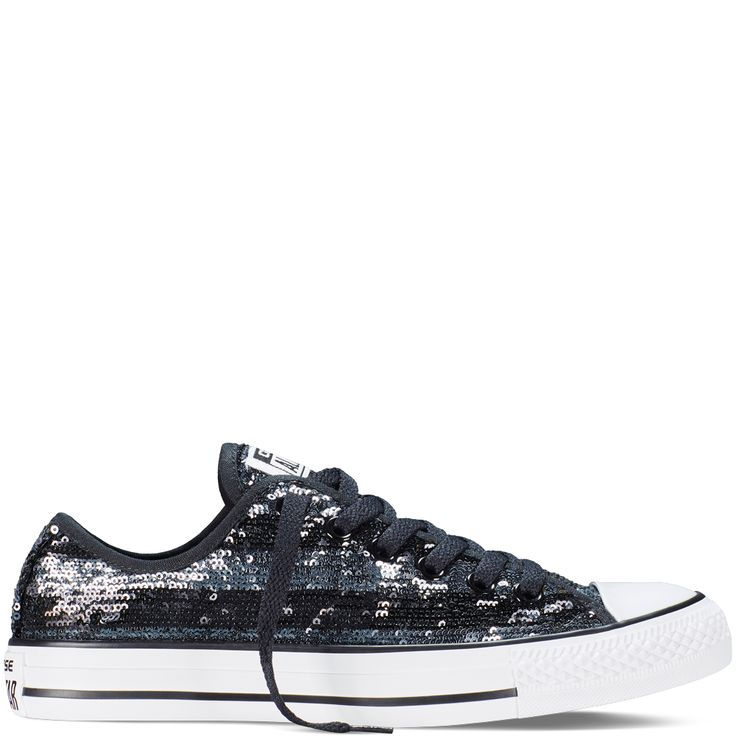 Converse - Chuck Taylor All Star Sequins - Black - Low Top - size 6 ladies