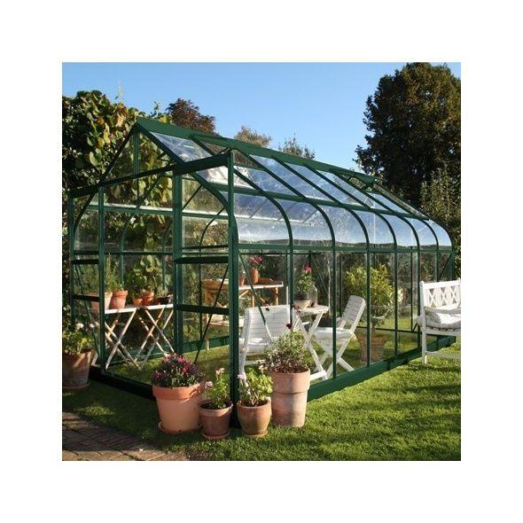 Serre de jardin Supreme verre trempé 11.4m² + embase - Halls