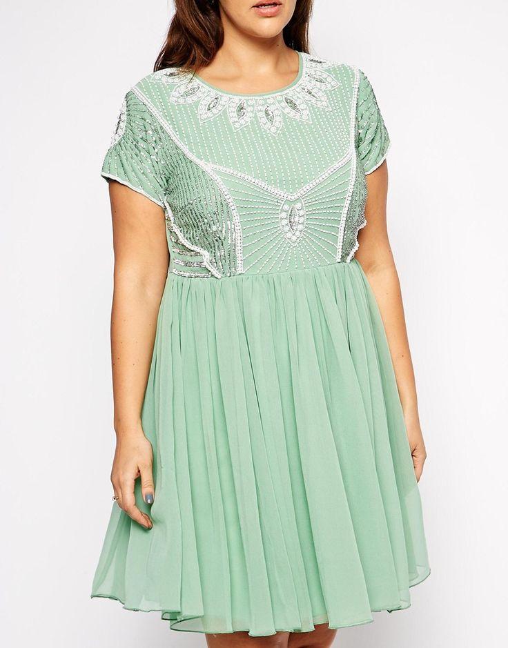 Image 3 ofLovedrobe Embellished Skater Dress