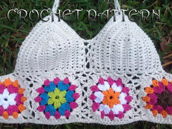 $8 Woman Festival Crochet Pattern  with granny motifs in PDF file.