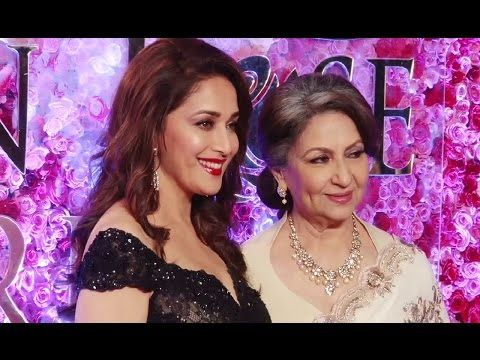 Madhuri Dixit & Sharmila Tagore at Lux Golden Rose Awards 2016.
