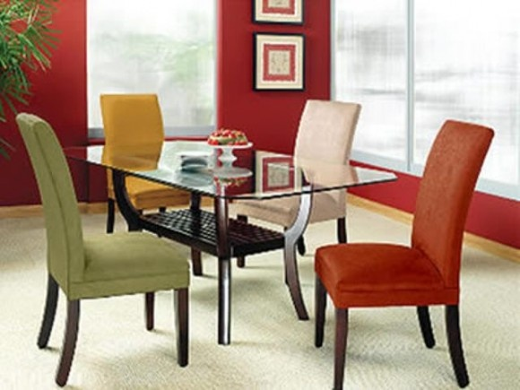 simple chairs, great color combo