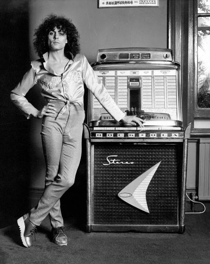 Marc Bolan. This photo was taken in my house!