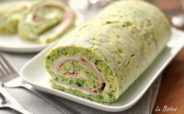 Rotolo+di+zucchine+con+stracchino+e+prosciutto+cotto