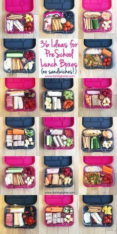 Lunchbox Ideas for kids, preschoolers and toddlers - with no boring sandwiches! Inspiration for more interesting pack ups for kids | http://www.tamingtwins.com