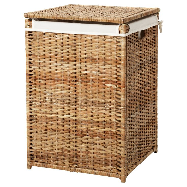 BRANÄS Laundry basket with lining, rattan $39.99 Article Number: 202.147.31 The laundry basket has plastic feet to protect it from a wet floor. Read more Size 21gallon