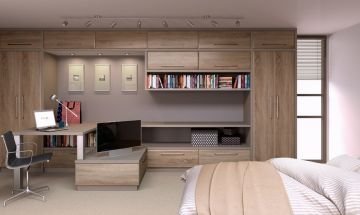 Natural Oak Bedroom Doors - By BA Components