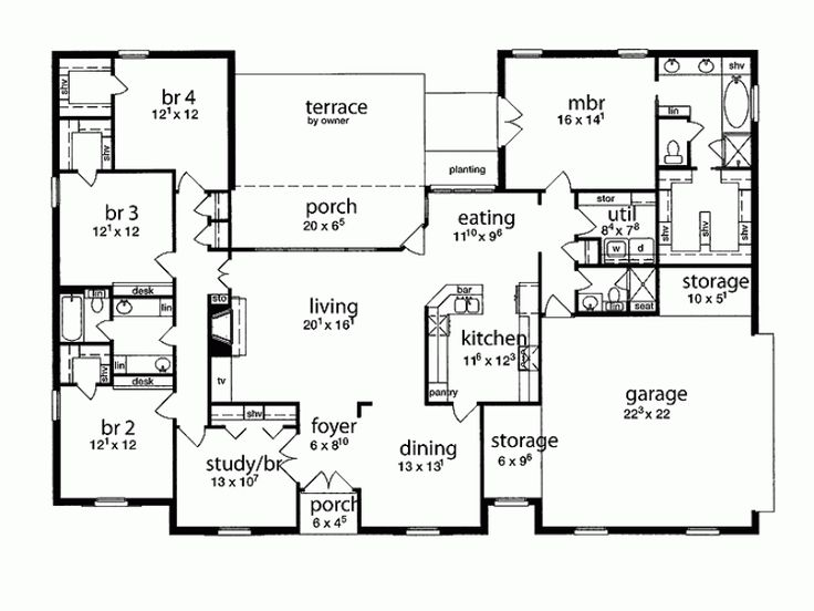 Great 4 Spare Bedroom Layout Nice Dining Layout Missing