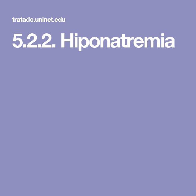 5.2.2. Hiponatremia
