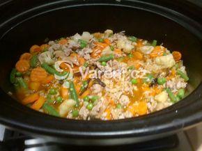 Recept na rizoto upravený pro přípravu v pomalém hrnci.