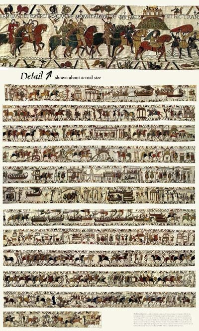 166 best bayeux tapestry images on pinterest hanging tapestry tapestries and tapestry - Point p bayeux ...