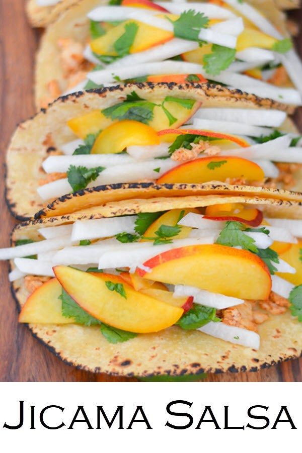 Homemade Jicama Salsa Recipe. Perfect for Taco Tuesday. #homemade #jicama #salsa #tacos #tacotuesday #healthy #jicamasalsa #foodblogger #lucismorsels