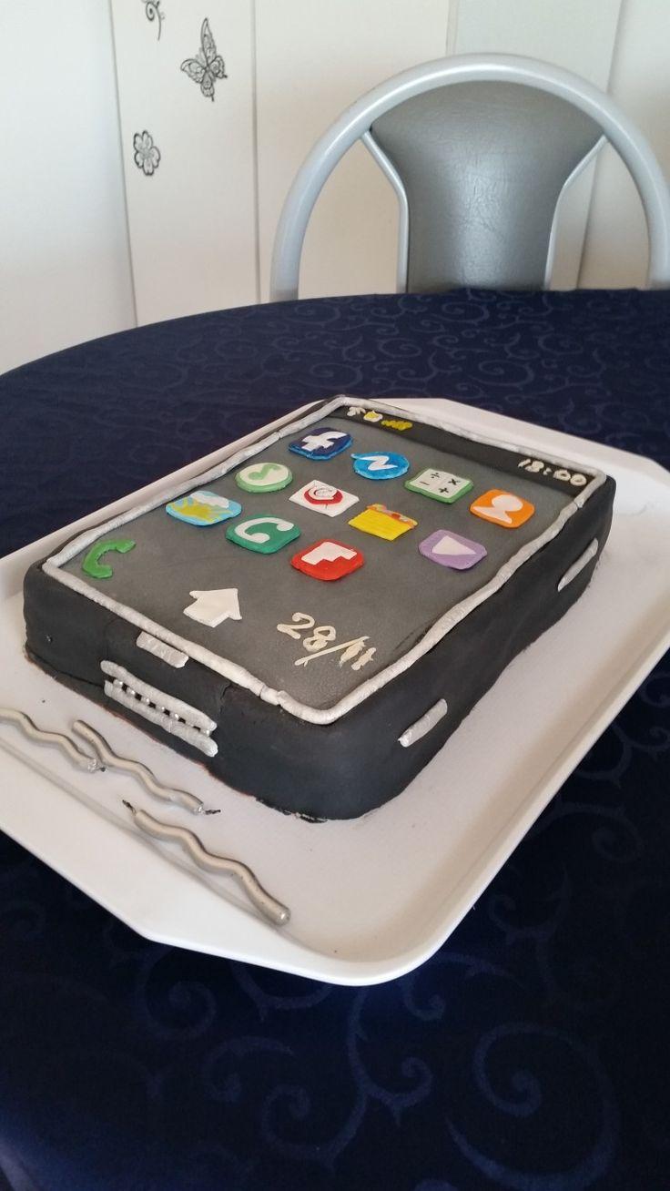 Mobile phone cake