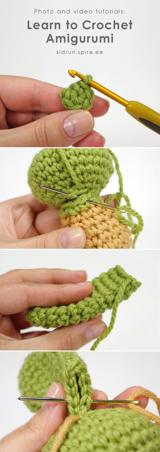 Crochet Basics : Amigurumi There are SO many amazing tutorials through this link. Seriously check it out.   Source: http://ift.tt/2sAcyRo