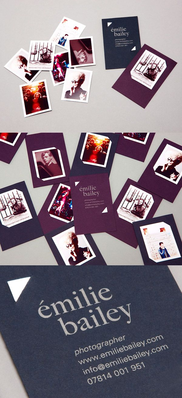 mini wallets tucked into simple card; creative & simple  Emilie Bailey's Photography
