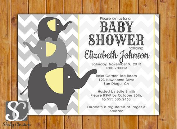 Baby Elephant Baby Shower Invites is awesome invitation example