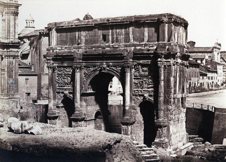 Eugene Constant - Arch of Septimius Severus, Rome, 1848