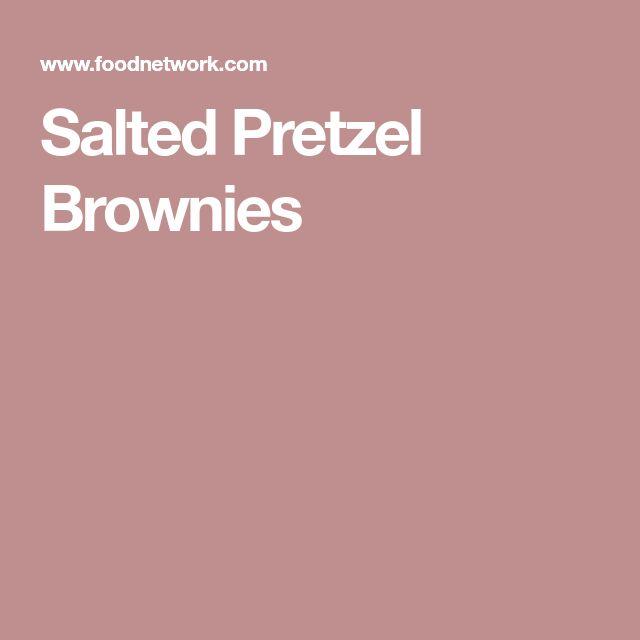 Salted Pretzel Brownies