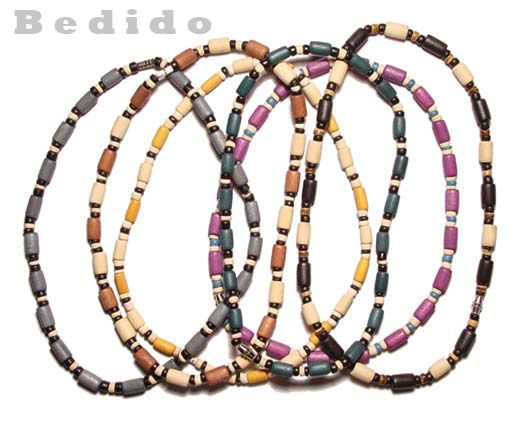 Wood Beads Necklace - wood beads necklace, wood fashion, mens necklace, teen necklace