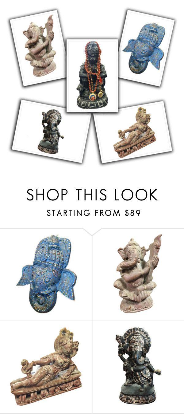 Hindu Gods Sculptures by baydeals on Polyvore featuring interior, interiors, interior design, home, home decor, interior decorating, homedecor, God, statue and gardenstatue  http://stores.ebay.com/mogulgallery/STONE-SCULPTURES-/_i.html?_fsub=353416219&_sid=3781319&_trksid=p4634.c0.m322