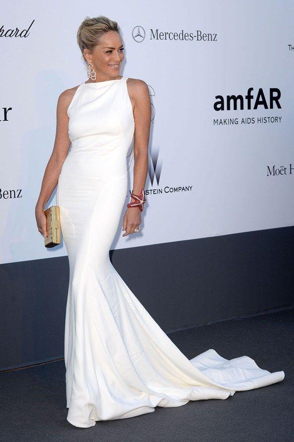 Gala amfAR: Sharon Stone en Roberto Cavalli y joyas de Grisogono