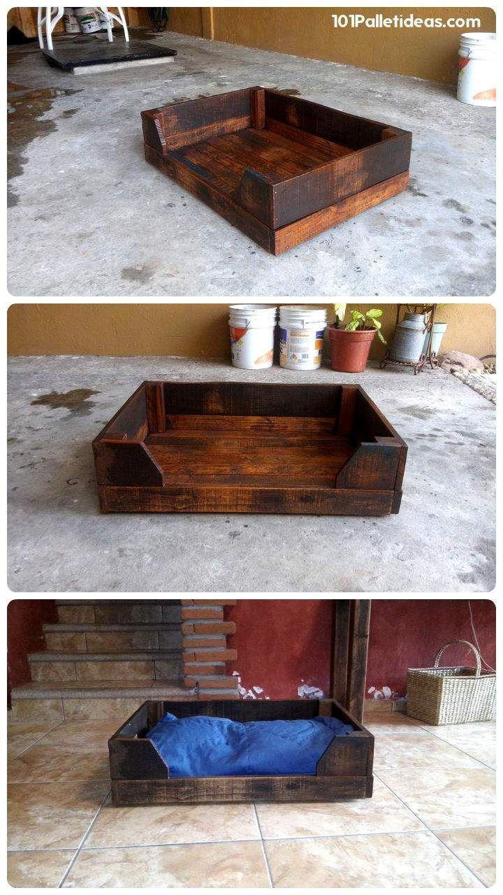 25 best ideas about wood dog bed on pinterest dog bed for Wood pallet dog bed