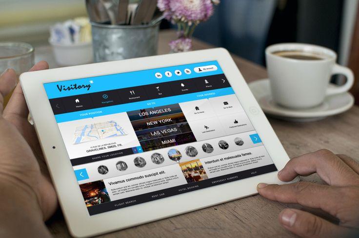Design application pour Visitory - Designed by Fares Houssam
