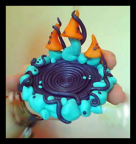 Polymer clay mushroom ashtray