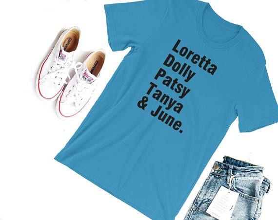Classic Country Ladies Tshirt-- Loretta Lynn Dolly Parton Patsy Cline Tanya Tucker June Carter Simply Southern Shirt Country Music Shirt
