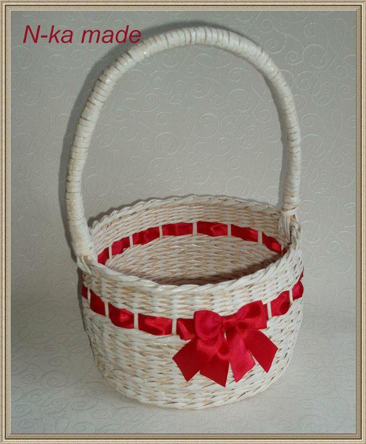 Рождественская корзинка, диаметр 22 см, высота бортика 13 см