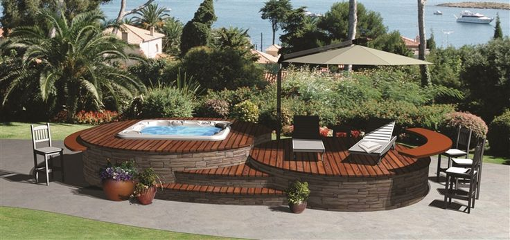 Awesome Patio Spa Multi Level Deck Around Spa Hot Tub Pinterest .