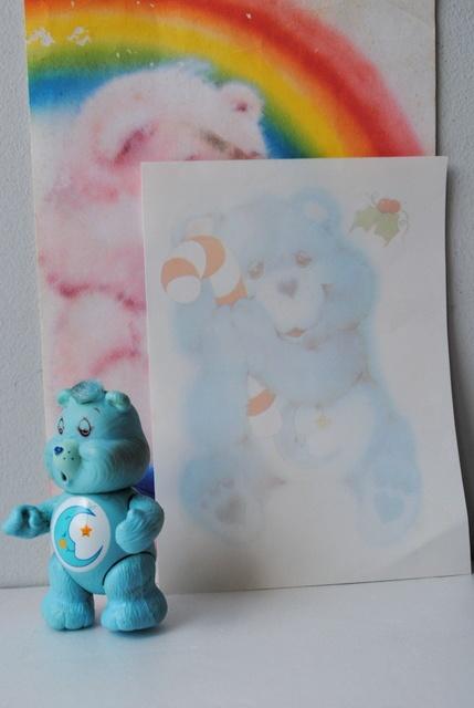 Papel de carta Ursinhos Carinhosos anos 80