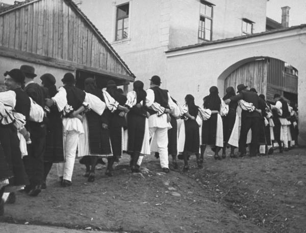 Romanian villagers dancing the Hora near Cluj - near where my maternal grandfather was born. (Source: Life)