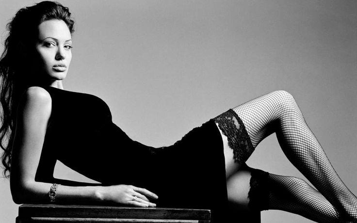 Angelina Jolie Wearing Fishnet Stockings