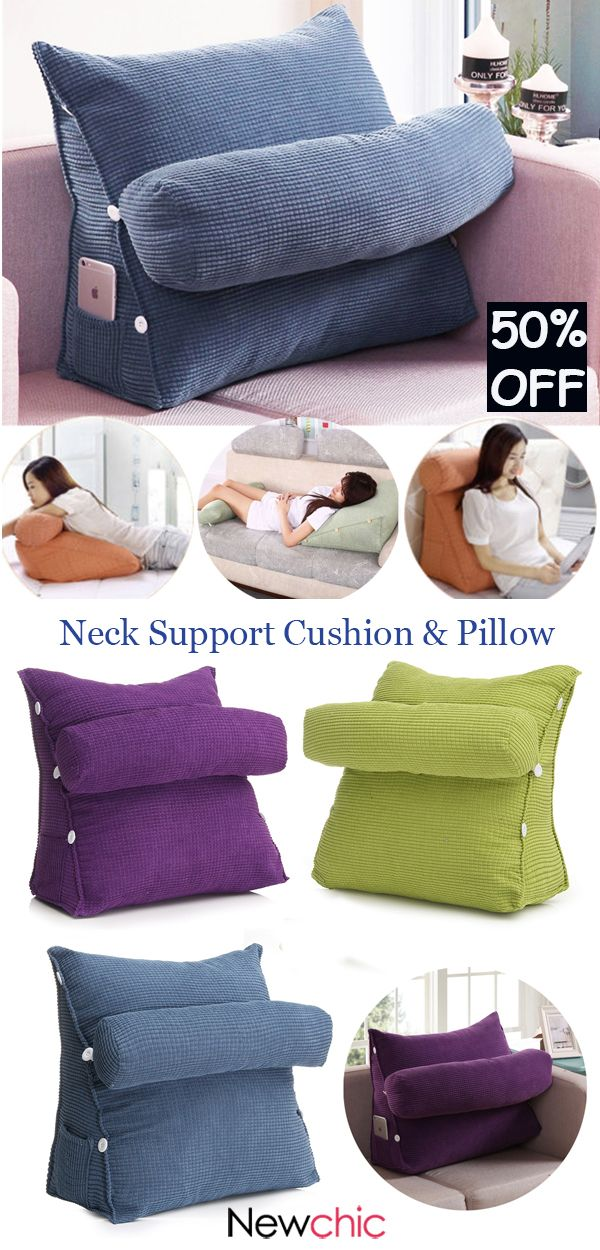 Adjustable Sofa Bed Chair Office Rest Neck Support Back Wedge
