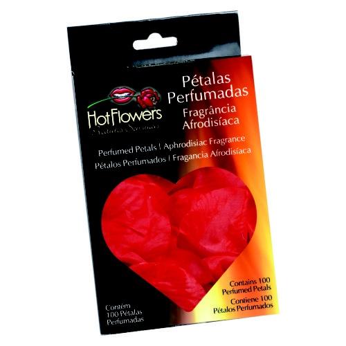 Tecido com fragrância afrodisíaca e no formato de pétalas de rosa, dá um toque romântico àquele momento especial. Utilize em decorações românticas.