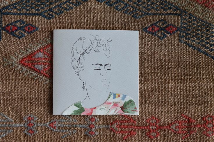 A personal favorite from my Etsy shop https://www.etsy.com/listing/222682328/frida-kahlo-card