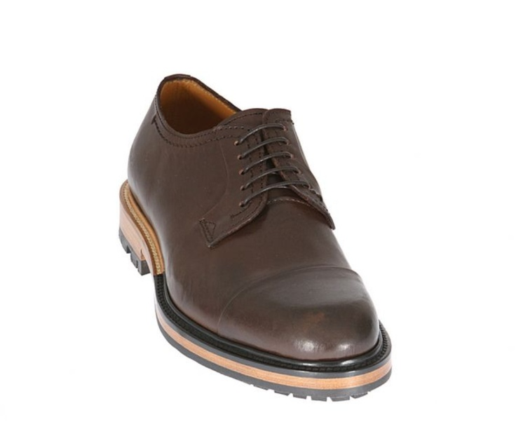 Lanvin Brown Leather Lace-Up Shoes