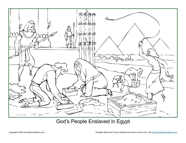 israelites leaving egypt coloring pages - photo#10