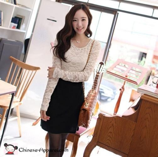 Black bottom white top dress