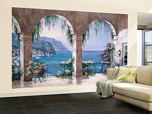 Nice Sung Kim Mediterranean Arch Wallpaper Mural 164 X Good Looking