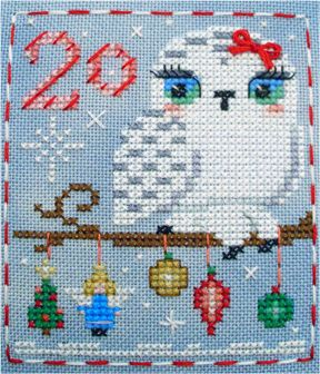 Odette Owl, #20 of the Brooke's Books Advent Animals Freebies Collection by Brooke Nolan https://www.etsy.com/shop/BrookesBooksStore  http://www.craftsy.com/user/1333992/pattern-store?_ct=fhevybu-ikrdql-fqjjuhdijehu  http://www.brookesbooks.com/CrossStitchFreebies2.html