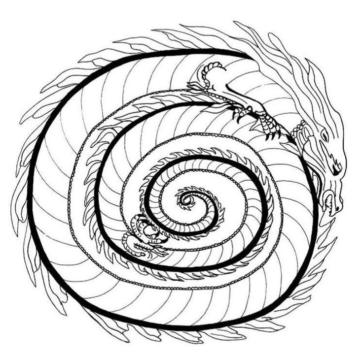 Herbst drachen malvorlage  Die besten 25+ Mandala herbst Ideen auf Pinterest | Mandala bilder ...