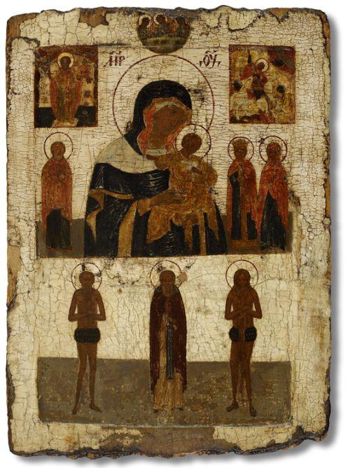 82 Богоматерь Коневская, святитель Николай Мирликийский, Чудо святого Георгия о змие, избранные святые