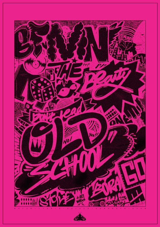 graffiti illustration. artist : BFMIN [범민] streetart poster design.