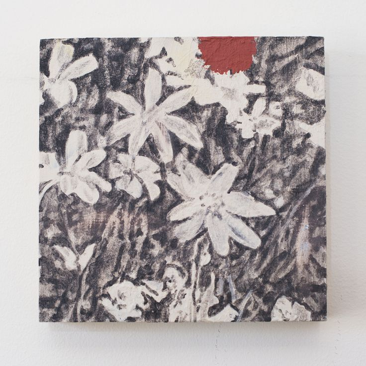 SOLD. Natasha. Acrylic and oil on plywood, 30 x 30cm, 2016. www.dianaellinger.com