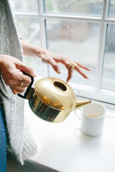 tom dixon brass series tea pot