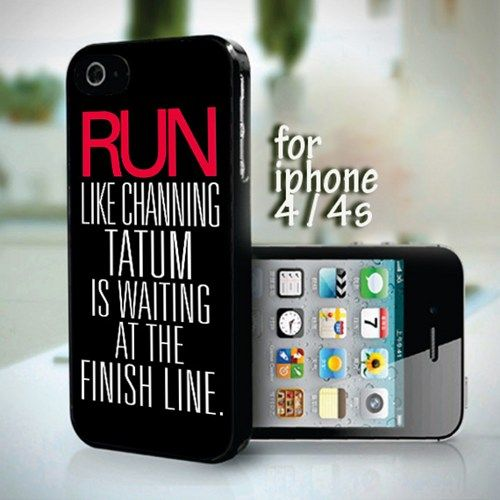 Run Like Channing Tatum Wallpaper design for iPhone 4 or 4s case