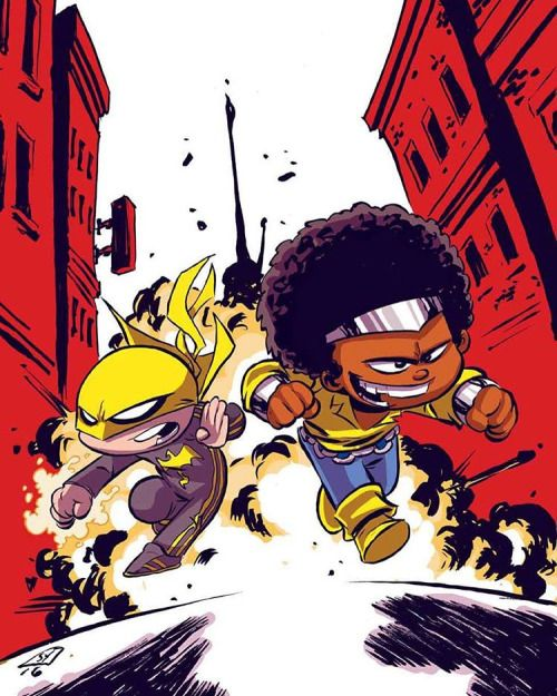 Baby Powerman and Ironfist #marvel #youngvariant By Skottie Young